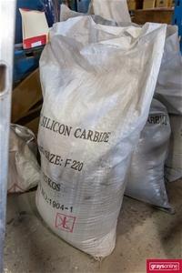 5x Assorted 25Kg Black Silicon Carbide