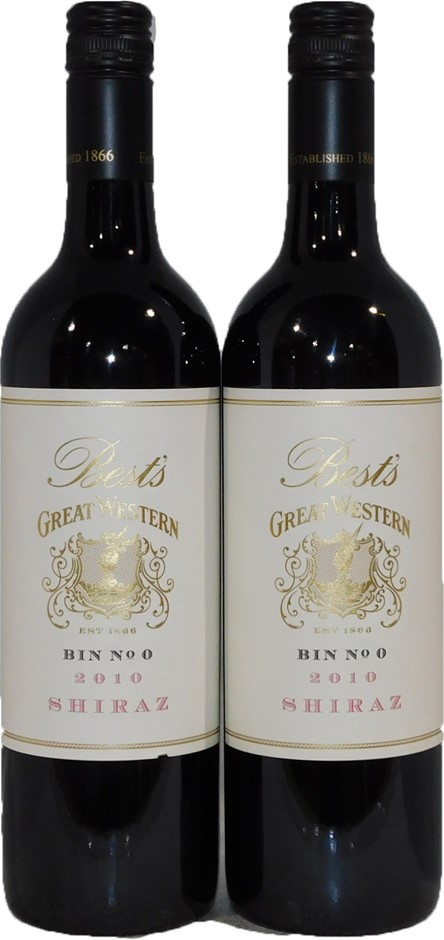 Best's Great Western Bin No 0 Shiraz 2010 (2x 750mL), VIC