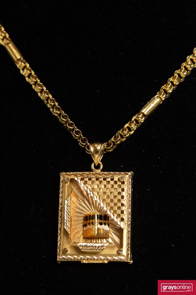 Gold Chain and Pendant 21 Karat Yellow Gold Chain 21