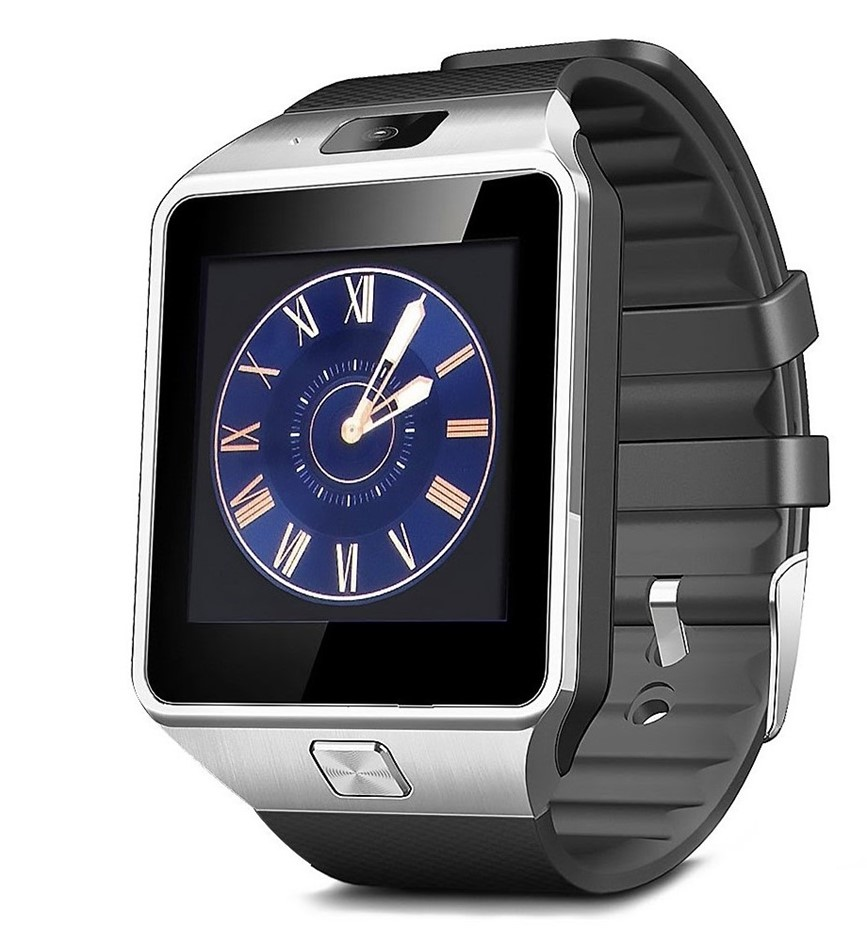 DZ09 Bluetooth Smart Watch for smartphones, Touch Screen, Silver & Black