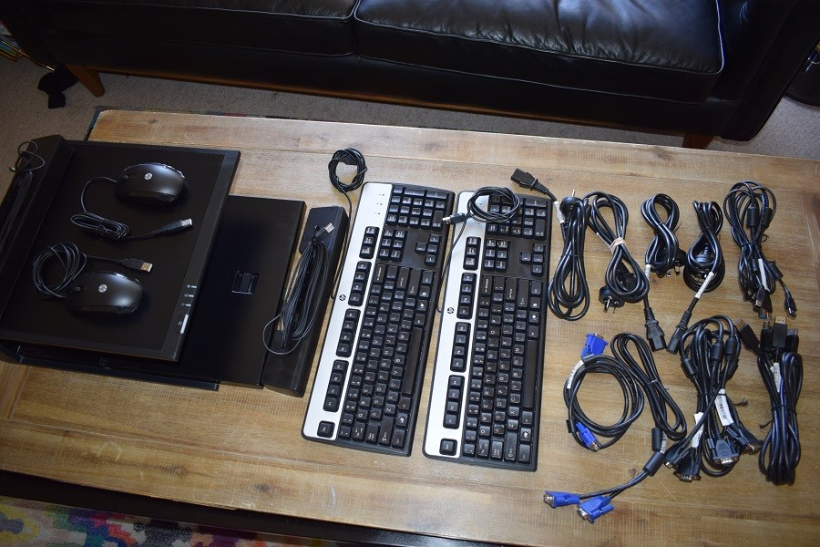 Box of Assorted IT Accessories