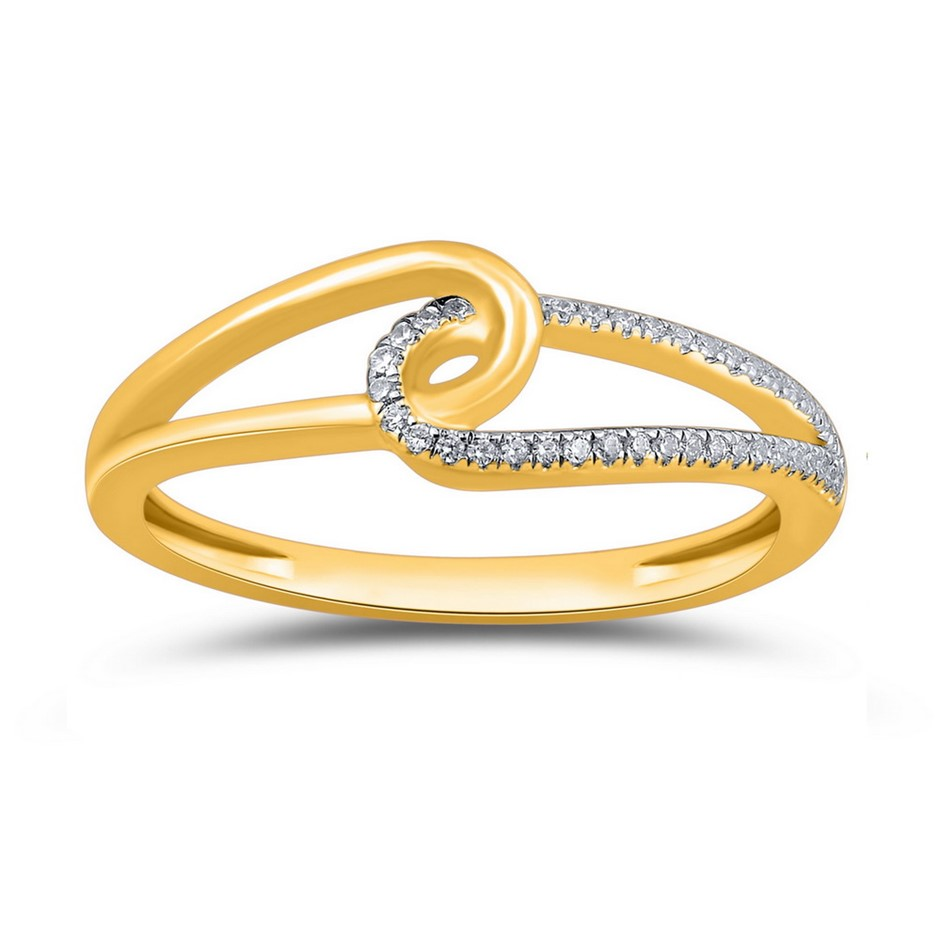 9ct Yellow Gold, 0.05ct Diamond Ring