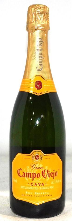 Gran Campo Viejo Brut Reserva Sparkling Wine NV (4x 750mL), Spain