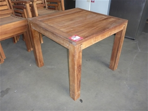 1 x Timber Outdoor Dining Table - 900mm