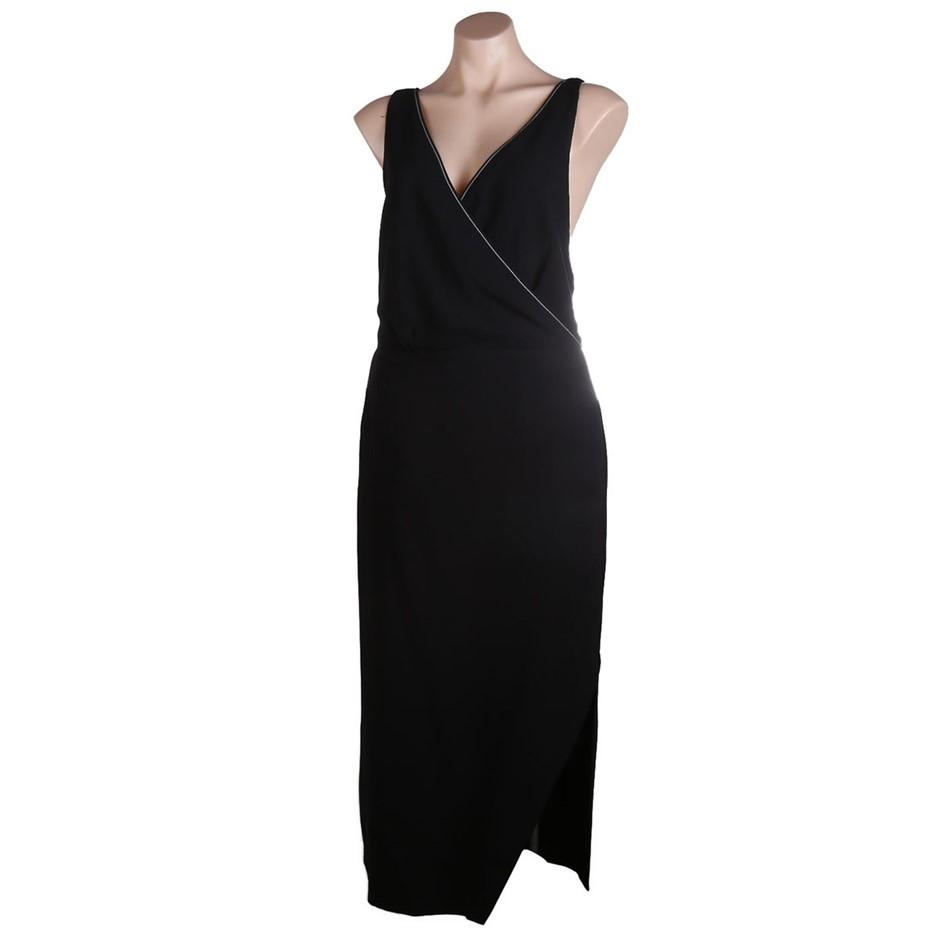 VIKTORIA & WOODS Providence Cross Back Dress. Size 3, Colour: Black. ORP $4