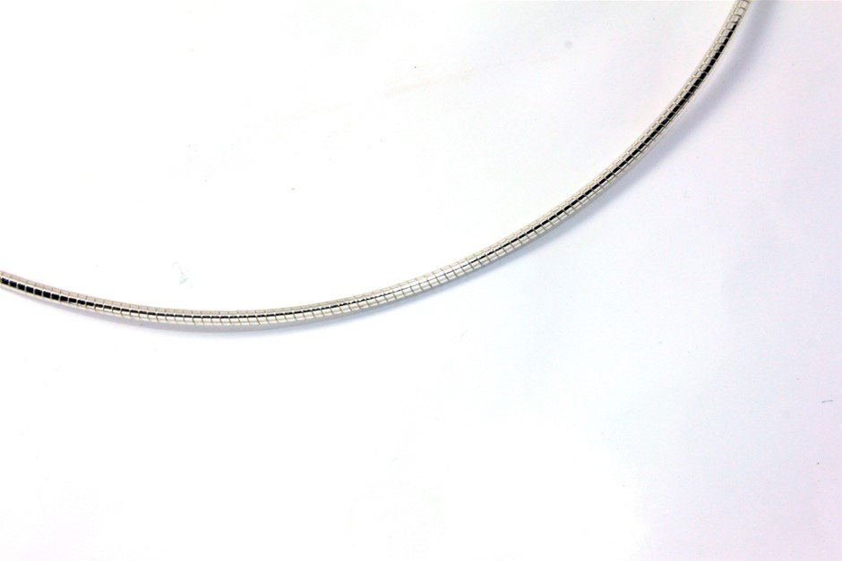 """Sterling Silver Full Round Omega Chain 16"""""""