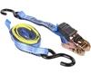 4 x Ratchet Tie Down Assemblies, 25mm x 4M c/w PVC Coated ``S`` Hooks, L/C