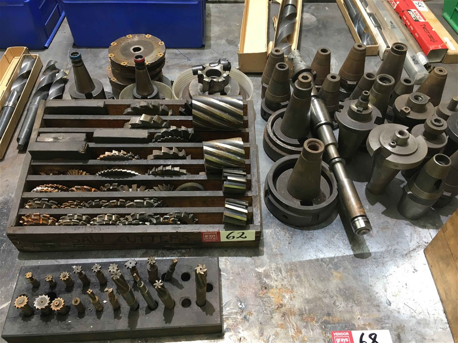 Qty of Milling Heads and Saw Cutters