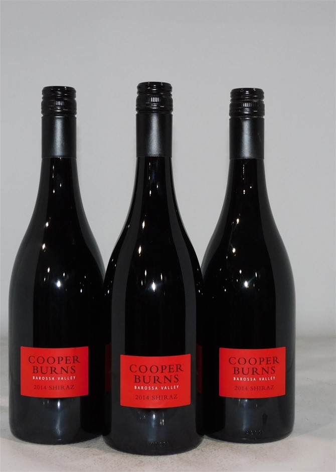 Cooper Burns Shiraz 2014 (3x 750mL), Barossa Valley.