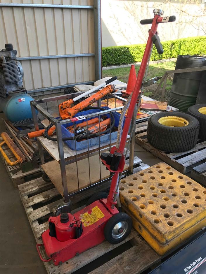 Air Operated Hydraulic Trolley Jack