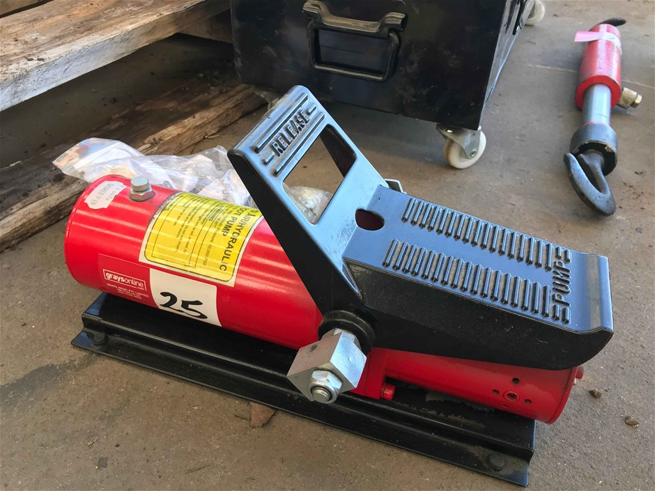 10,000 PSI Air Operated Hydraulic Foot Pump