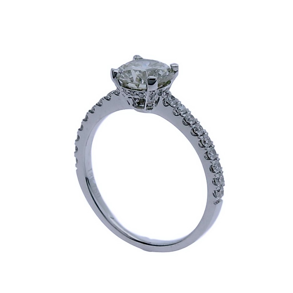 18ct White Gold, 1.54ct Diamond Engagement Ring