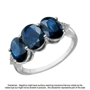 9ct White Gold, 5.00ct Blue Sapphire and