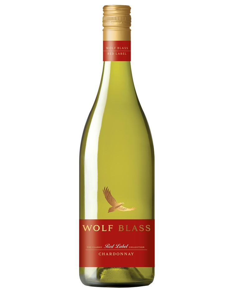 Wolf Blass Red Label Chardonnay 2020 (6x 750mL).