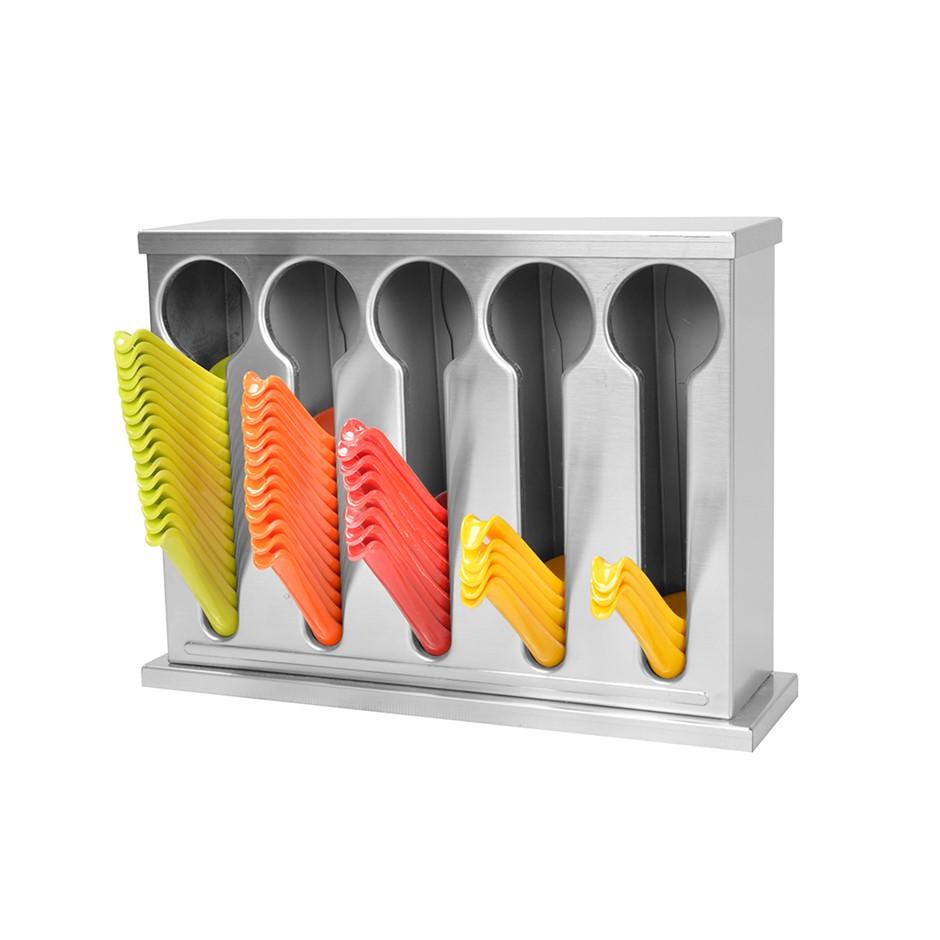 SOGA S/S Buffet Restaurant Spoon Utensil Holder Storage Rack 5 Holes