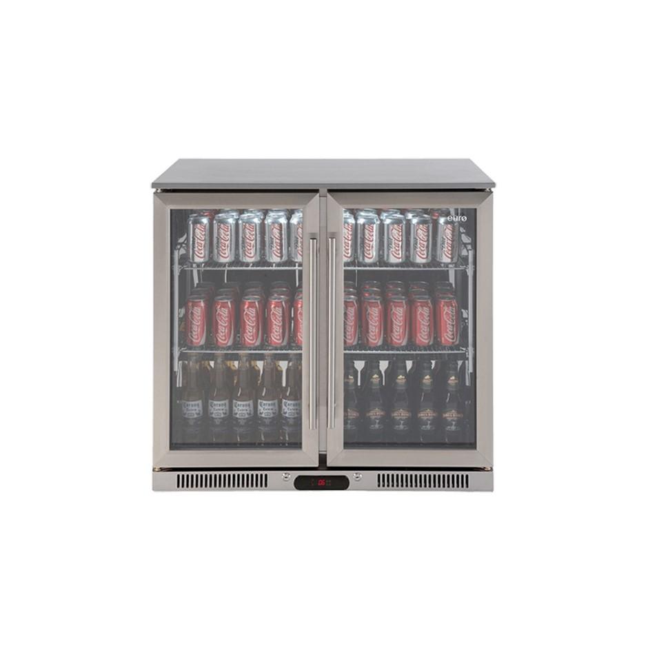 Euro 208 litre Double Door Beverage Cooler, Model: EA900WFSX2