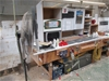 Timber Work Bench with Shelving