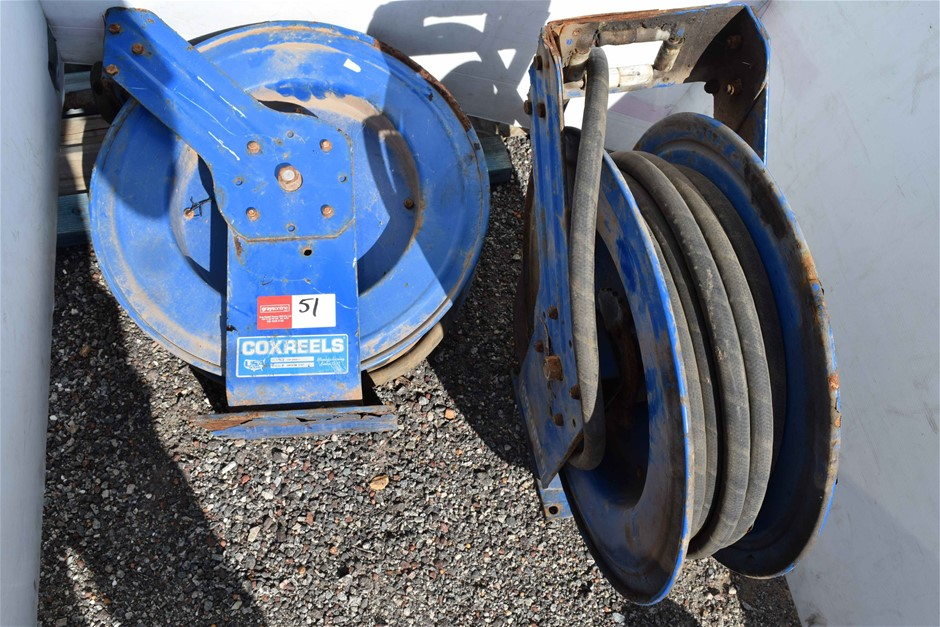 """Lot of 2 """"CoxReels"""" Hydraulic Hose Reelers"""