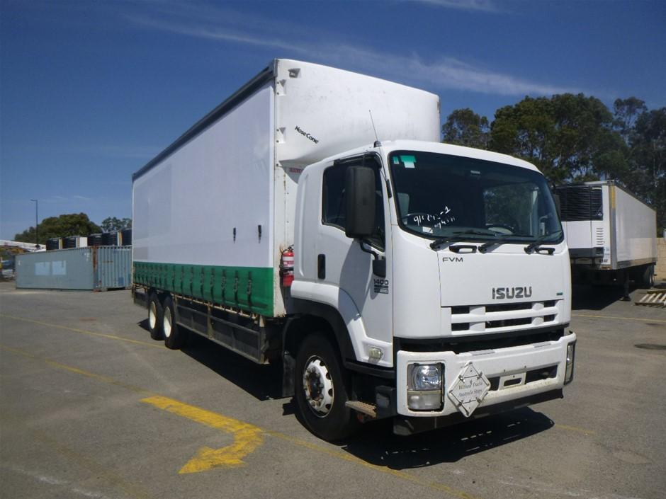 2012 Isuzu FVM 1400 Long 4 x 2 Curtainsider Rigid Truck