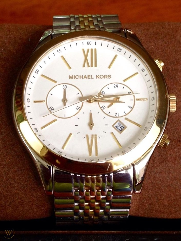 Mens new Michael Kors Couture NY classy and classic chrono watch.