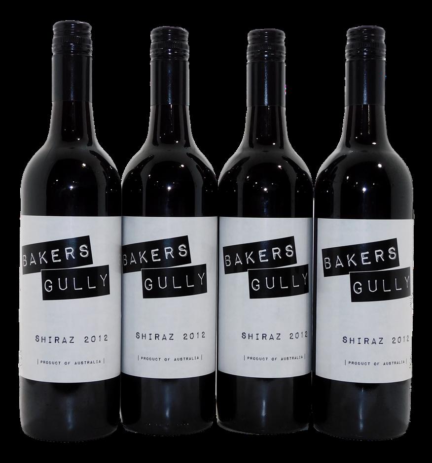 ARH Aust Wine Co. Bakers Gully Shiraz 2012 (4x 750mL), SA. Screwcap