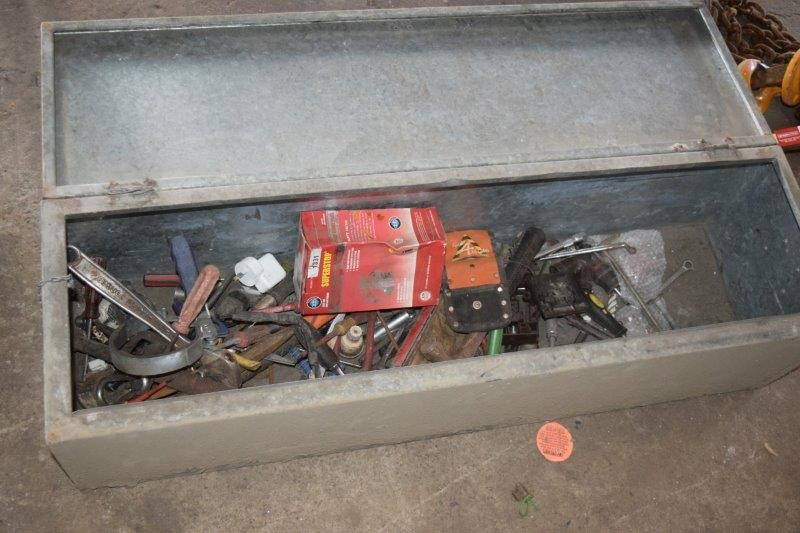 Zincalume Tool Box with Assorted Tools
