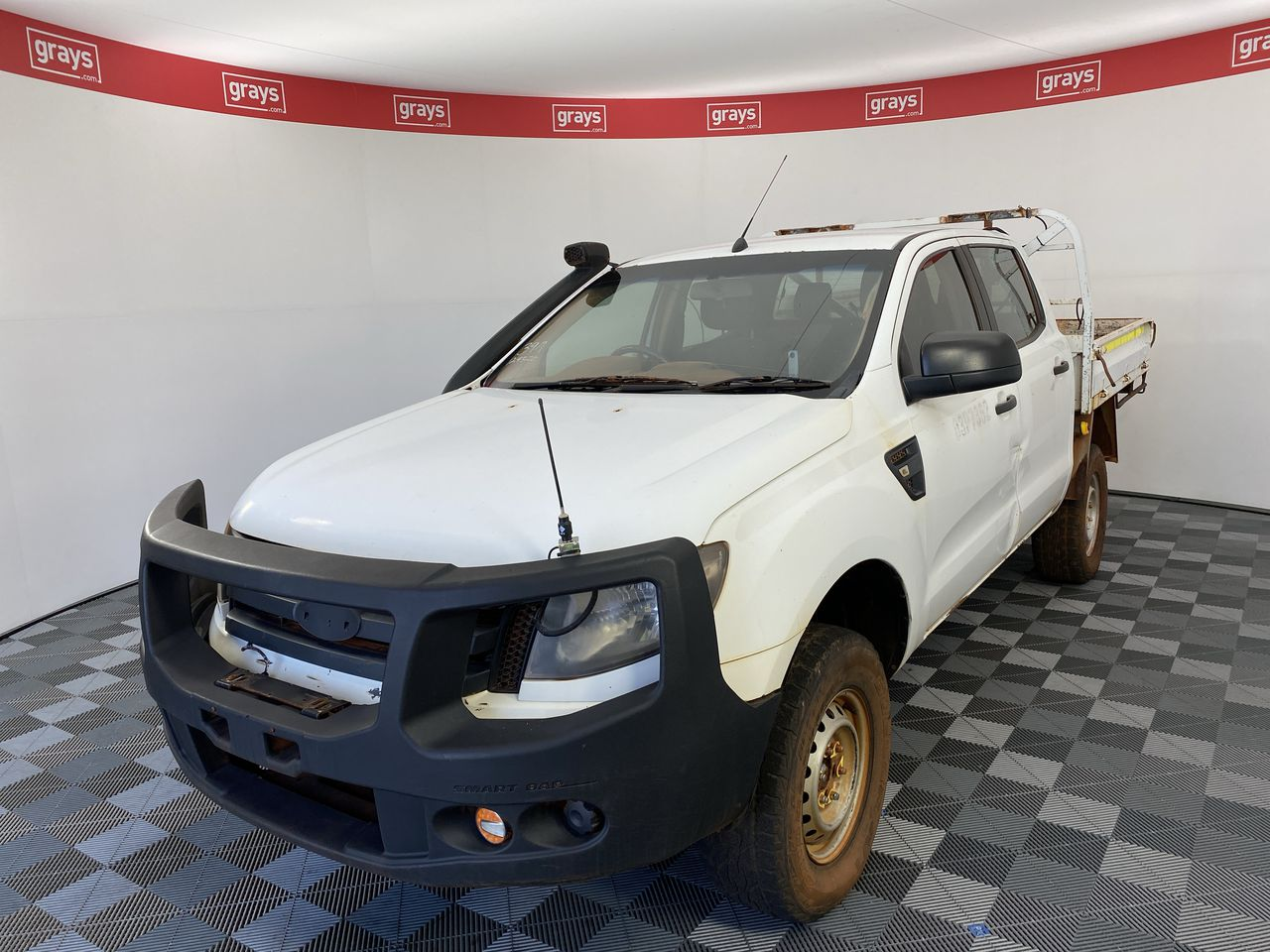 2013 Ford Ranger XL 4X4 PX Turbo Diesel Automatic Crew Cab Chassis