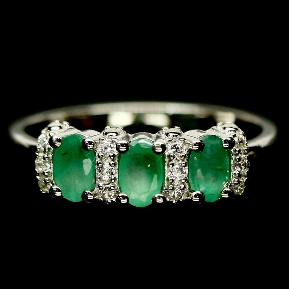 Glorious Genuine Emerald Ring