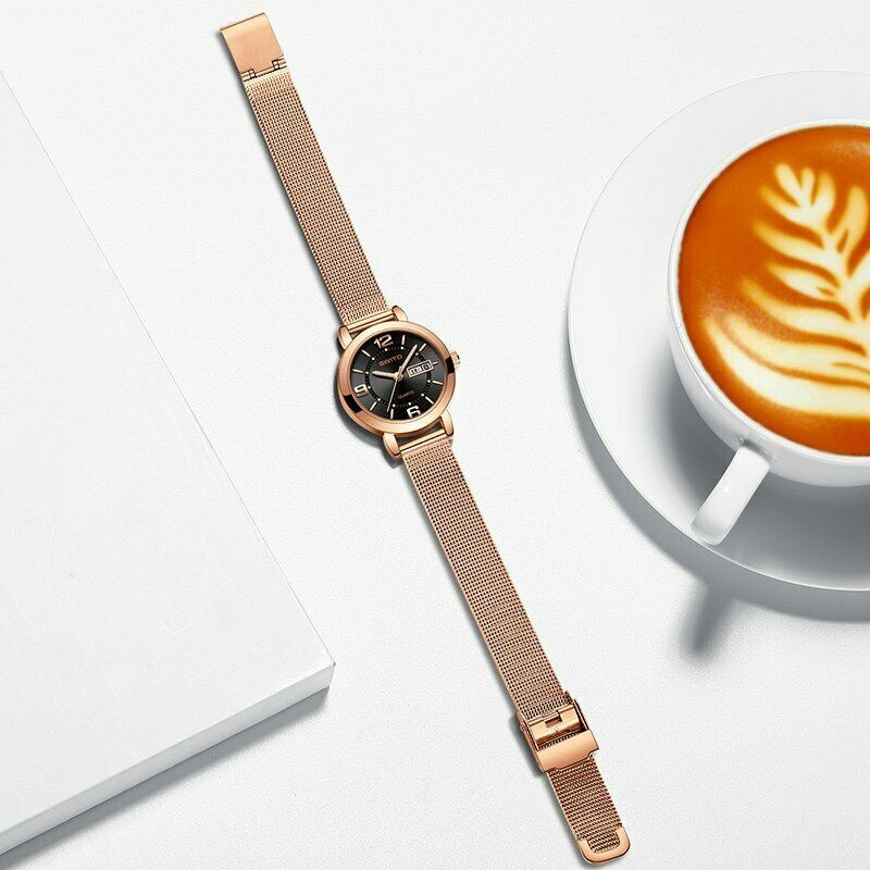 Luxury Women's Fashion Stylish Stainless Steel Water Resistant Wrist Watch