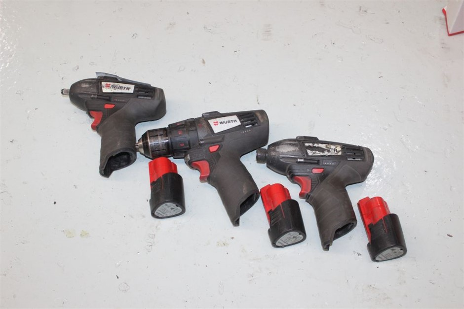Wurth 3x Assorted Cordless Hand Tools