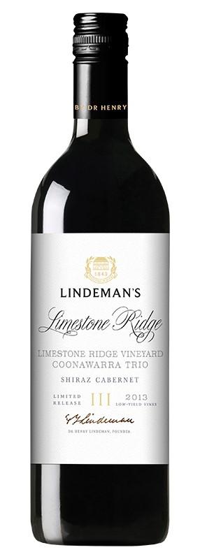 Lindeman's Coonawarra Trio Limestone Ridge Shiraz Cab 2015 (6x 750mL).