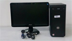 Full Tower Desktop PC with Philips 21.5-