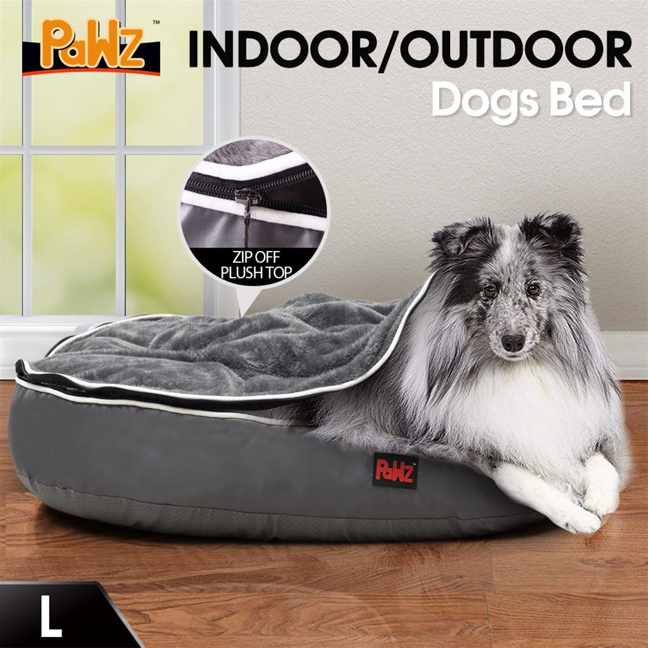 PaWz Heavy Duty Pet Bed Mattress Dog Cat Pad Mat Soft Cushion Warm L Grey