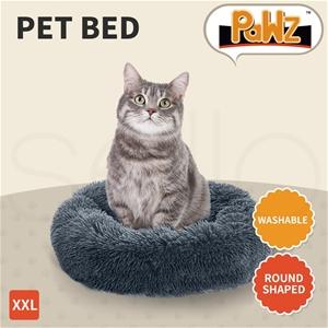 PaWz Pet Bed Cat Dog Donut Nest Calming