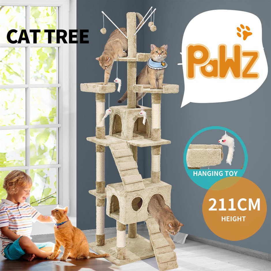 PaWz Cat Tree Scratching Post Scratcher House Condo Tower Furniture Trees