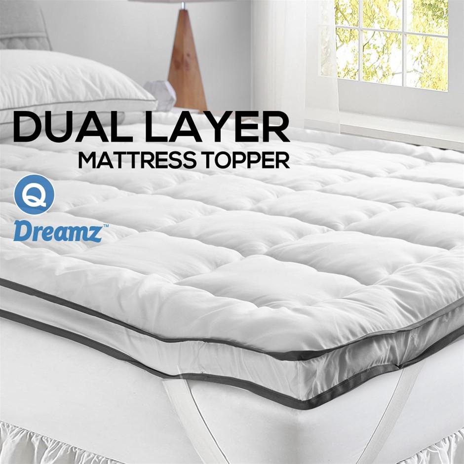 DreamZ Bedding Pillowtop Bed Mattress Topper Mat Pad Protector Cover Queen