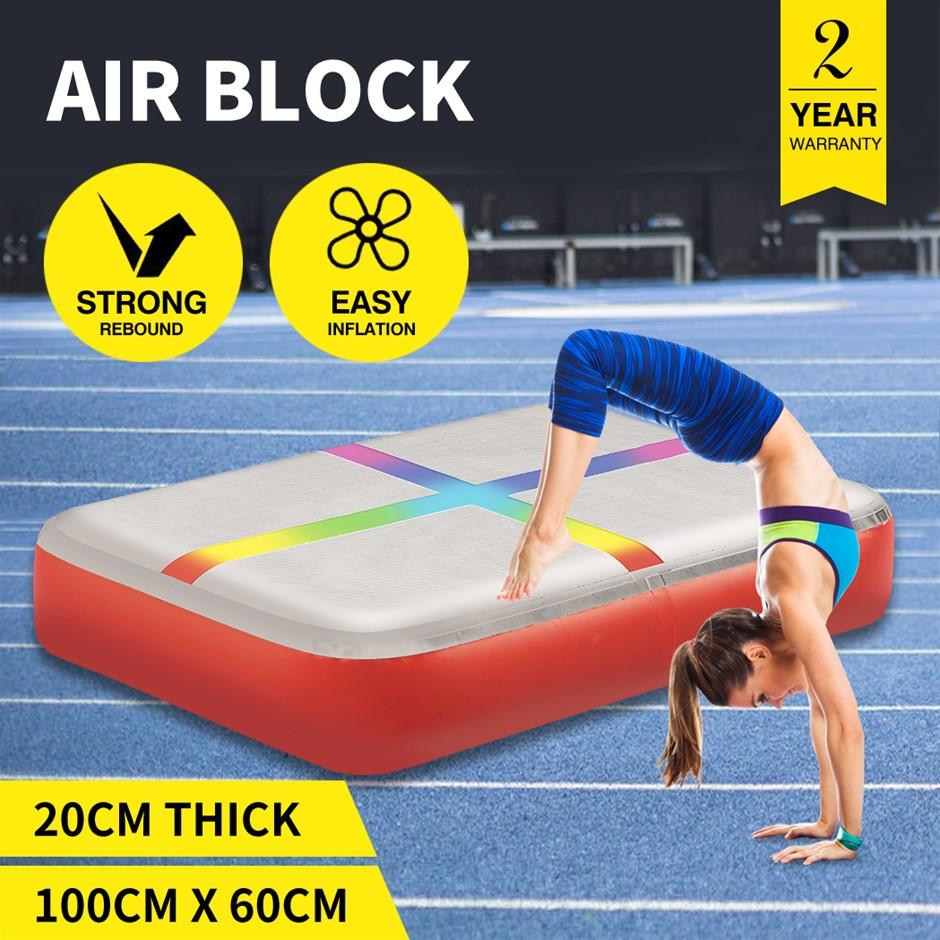 Centra 0.6X1M Air Track Block Inflatable Mat Airtrack Tumbling Gymnastics