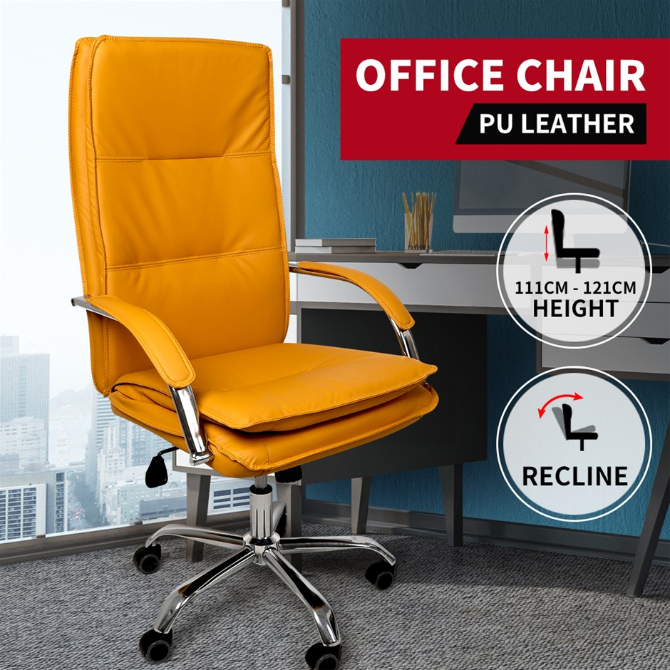 Gaming Chair Office Racing Computer Seat Executive PU Leather Racer Wheel