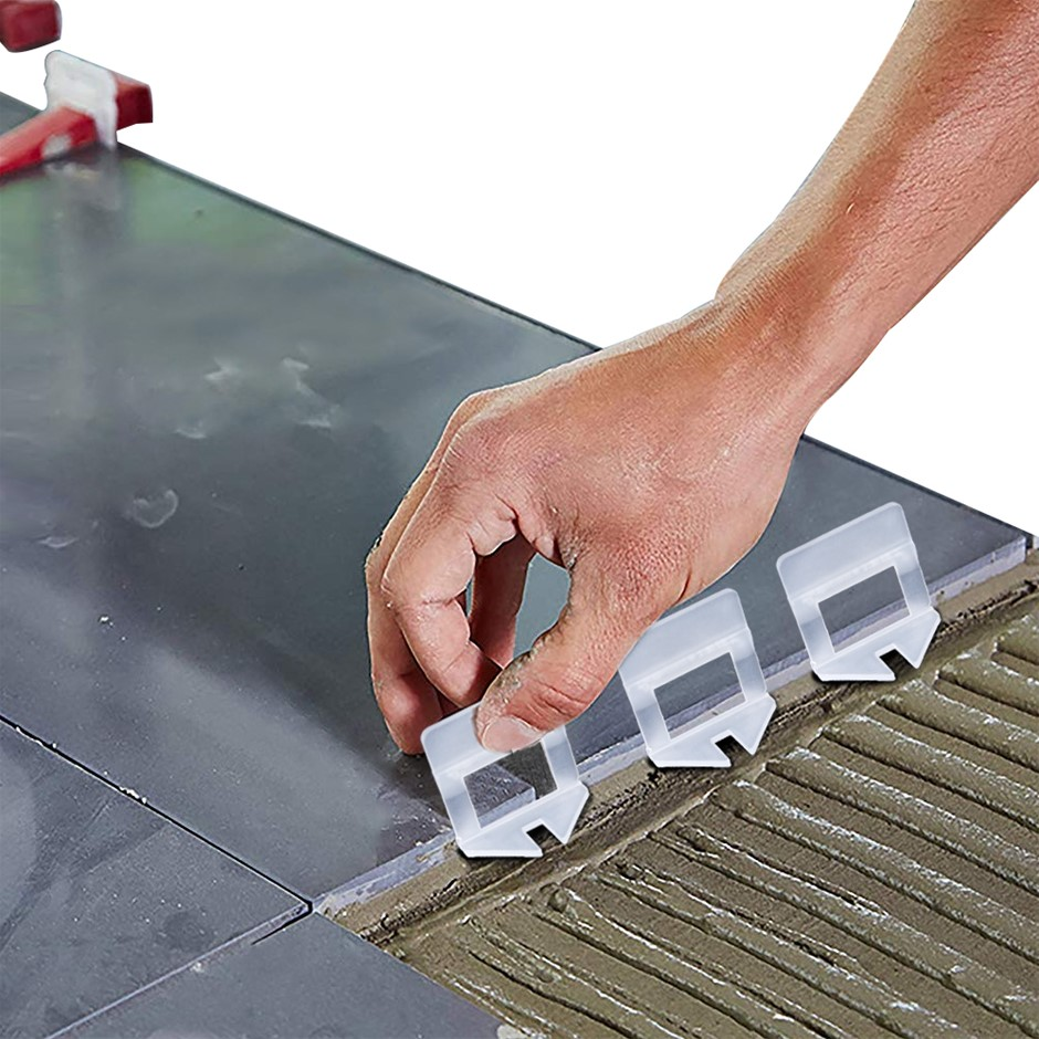 1000x 2MM Tile Leveling System Clips Levelling Spacer Tiling Floor Wall