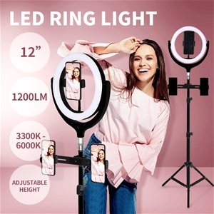 12'' LED Ring Light w/ Tripod Stand Hold