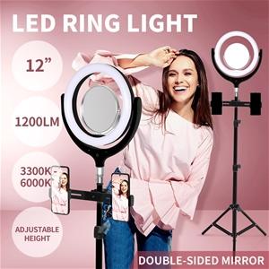 LED Ring Light w/ Tripod Stand Holder Di