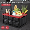 Car Boot Organiser Trunk Organizer Collapsible Foldable Shopping Tidy x2