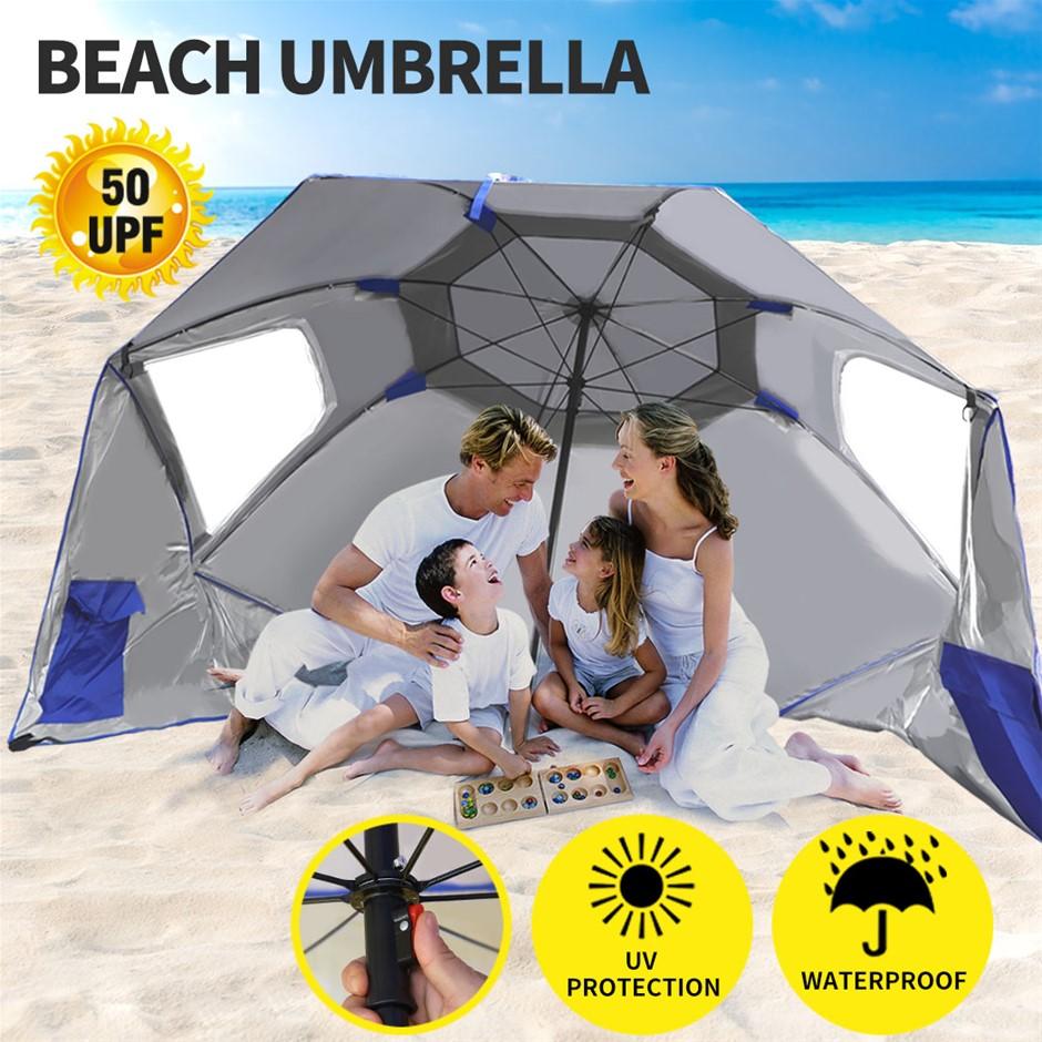Beach Umbrella Outdoor Umbrellas Garden Sun Shade Shelter Weather Patio 2M