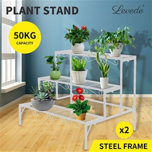 Levede Plant Stands Outdoor Indoor Metal
