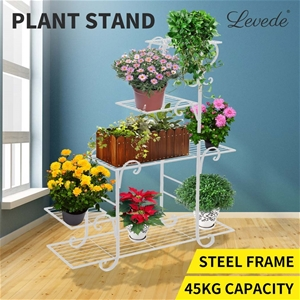 Levede Out/Indoor Plant Stand Metal Flow