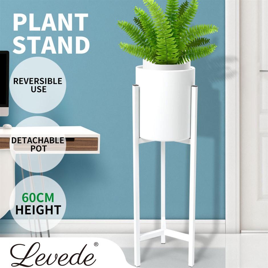 Plant Stand Garden Planter Metal Flower Pot Rack Corner Shelving In/Outdoor