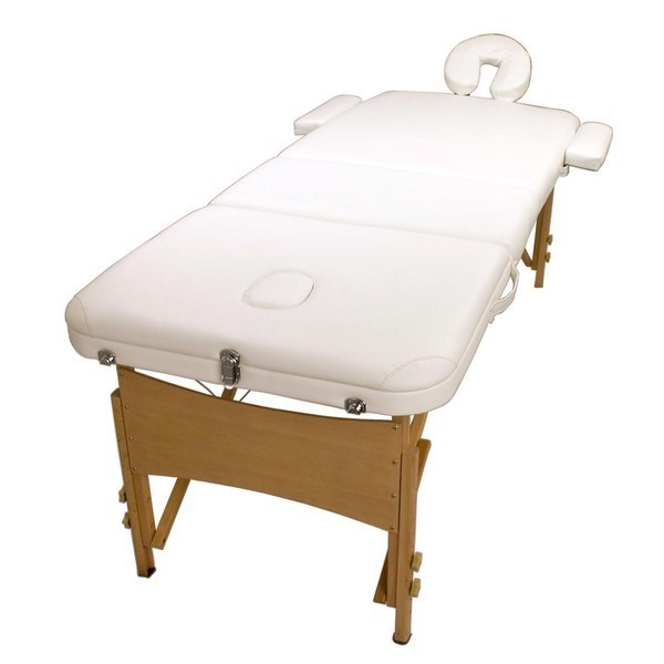 Wooden Portable Massage Table 70cm - WHITE