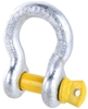 4 x Bow Shackles, WLL 4.7T, Screw Pin Type, Grade S. Yellow Pin. Buyers Not