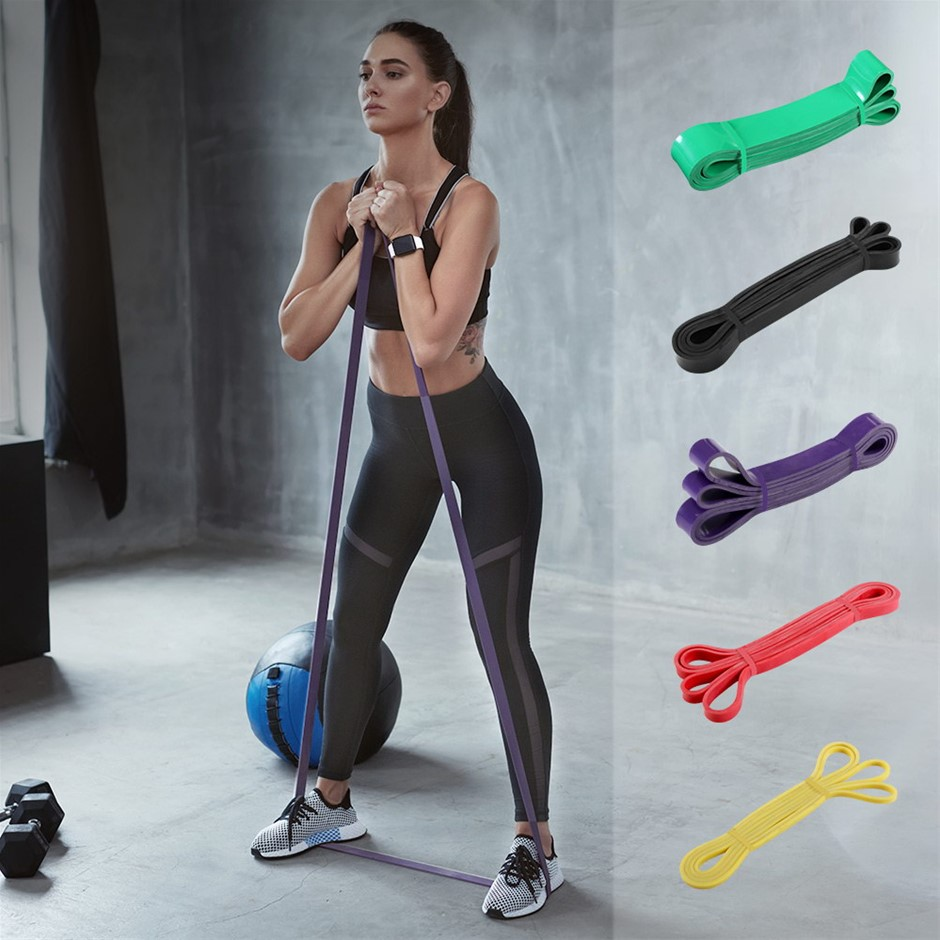 5pcs Set Resistance Bands Loop Gym Fitness Yoga Training Booty Band