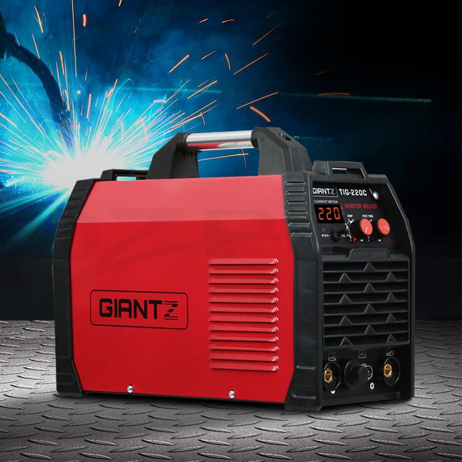 Giantz 220 Amp Inverter Welder TIG MMA ARC DC Gas Welding Machine Stick